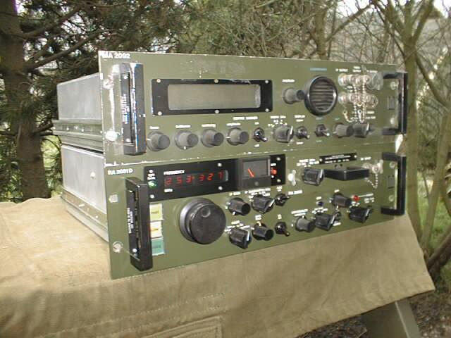 Racal RA-2091 VHF Communications Receiver & RA-2092 Spectrum Display Unit