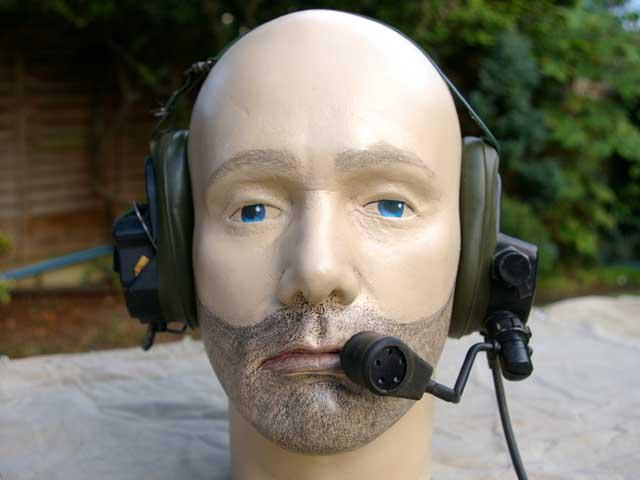Racal Clansman Light Weight Head Set and Microphone