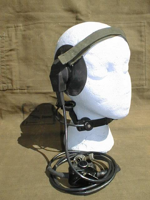Racal Clansman Head Set and Throat Microphone